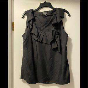 Ann Taylor silk sleeveless blouse 12